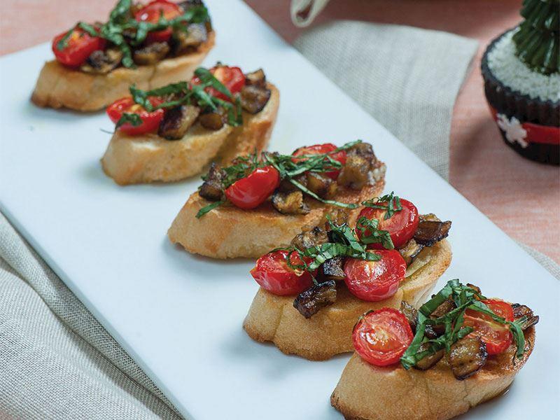 Pratik Patlıcanlı Bruschetta Tarifi